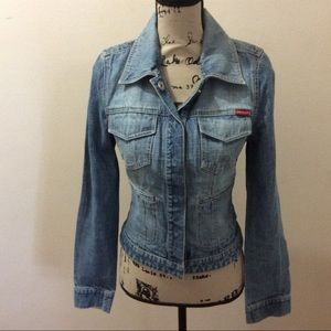 Guess Fitted Denim Jean Jacket Medium